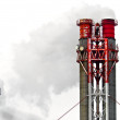 Chimney with smoke — Stock Photo