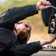 Handsome young man repairing car — Stock Photo #9272337