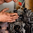 Used motor block - Stock Photo