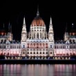 Photo of the hungarian parlament at night — Lizenzfreies Foto