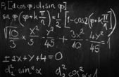 Blackboard with formulas — Stock Photo