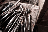 A lot of different tools of a worker — Stock Photo