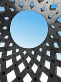 Circle shaped roof of a modern building — Stock Photo