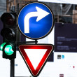 Glowing traffic signs — Stock Photo #9824602