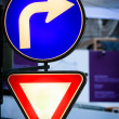 Glowing traffic signs — Stock Photo #9824604