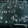Blackboard with formulas — Stock Photo