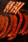 Meat for hot dog — Stock Photo