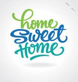 """""""hogar dulce hogar"""" mano letras (vector) — Vector de stock"""