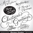 Christmas greetings hand lettering set (vector) — Stock Vector #8038346