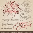 Royalty-Free Stock Vector Image: Christmas greetings hand lettering set (vector)