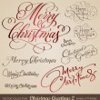 Royalty-Free Stock ベクターイメージ: Christmas greetings hand lettering set (vector)