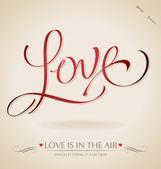 'Love' hand lettering (vector) — Stock Vector
