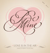'Be Mine' hand lettering (vector) — Stock Vector