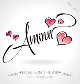 'amour' écriture manuscrite (vecteur) — Vecteur