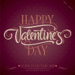 'happy valentine's day' hand lettering (vector) - Stock Vector