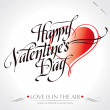 &#039;happy valentine&#039;s day&#039; hand lettering (vector) - Stock Vector