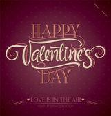 'buon san valentino' mano lettering (vector) — Vettoriale Stock