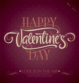 'happy valentine's day' hand lettering (vector) — Vector de stock