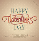 'happy valentine's day' hand lettering (vector) — Stockvector