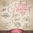 Royalty-Free Stock Vector: Valentine\'s hand lettering set (vector)