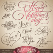Valentine's hand lettering set (vector) — Stock Vector #8756184