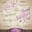 Valentine's hand lettering set (vector) — Stock Vector #8756186
