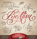 Valentine's hand lettering set (vector) — 图库矢量图片