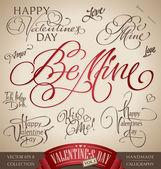 Valentine's hand lettering set (vector) — Stockvector