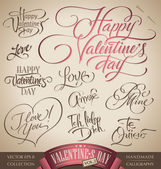 Valentine's hand lettering set (vector) — Stock Vector