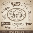 Stock Vector: Menu hand lettered headlines set (vector)