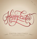 'happy easter' hand lettering (vector) — Vector de stock