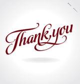 Dziękuję rękę napis (wektor) — Wektor stockowy