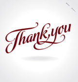 THANK YOU hand lettering (vector) — ストックベクタ