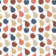 Stock Photo: Vector seamless pattern of fruit - apple and pear