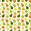 Vector seamless pattern of fruit - apple and pear - 