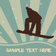 Snowboarding vector - Foto Stock