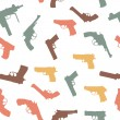 Vector guns set seamless pattern - Foto Stock