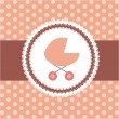 Vector illustration of pink baby carriage for newborn girl — Stock fotografie