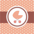 Vector illustration of pink baby carriage for newborn girl - Foto Stock