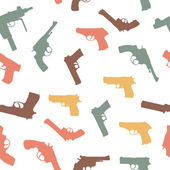 Vector guns set seamless pattern — Stock Photo