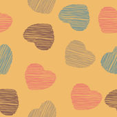 Heart vintage seamless pattern vector love background — Stock Photo