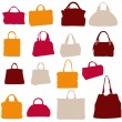 Women bags vector silhouette — Stock Photo #10222002