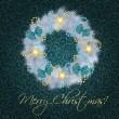 Royalty-Free Stock Photo: Realistic christmas wreath on vintage background vector illustra
