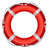 Life Buoy, Isolated On White Background, Vector Illustration — Stock Photo