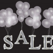 Royalty-Free Stock Photo: Balloons with sale letters . Concept of discount. Vector illustr