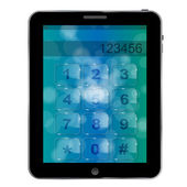 Universal design Tablet with numbers icon, vector illustration — Foto Stock