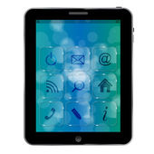 Abstract Tablet pc with icons — Stock Photo