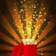 Open magic Gift box, vector illustration — Stock Photo #10396716