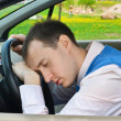 Man sleeps in a car. — Stock Photo #10462216