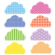 Different colored speech bubbles in clouds style. — Stock Photo #10515351
